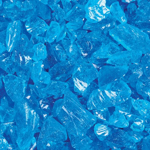 Turquoise Blue Standard Fire Glass