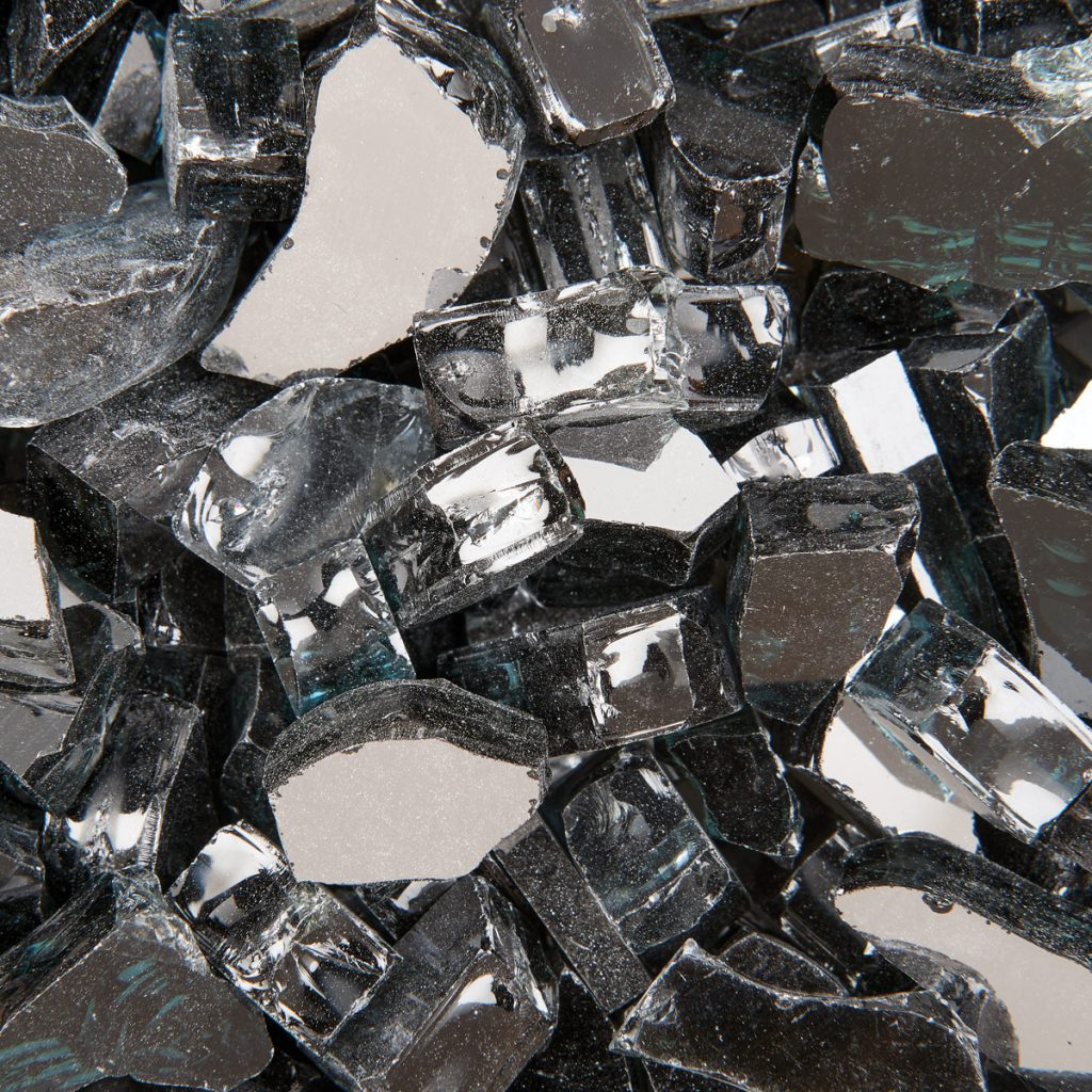 Black Metallic Fire Glass