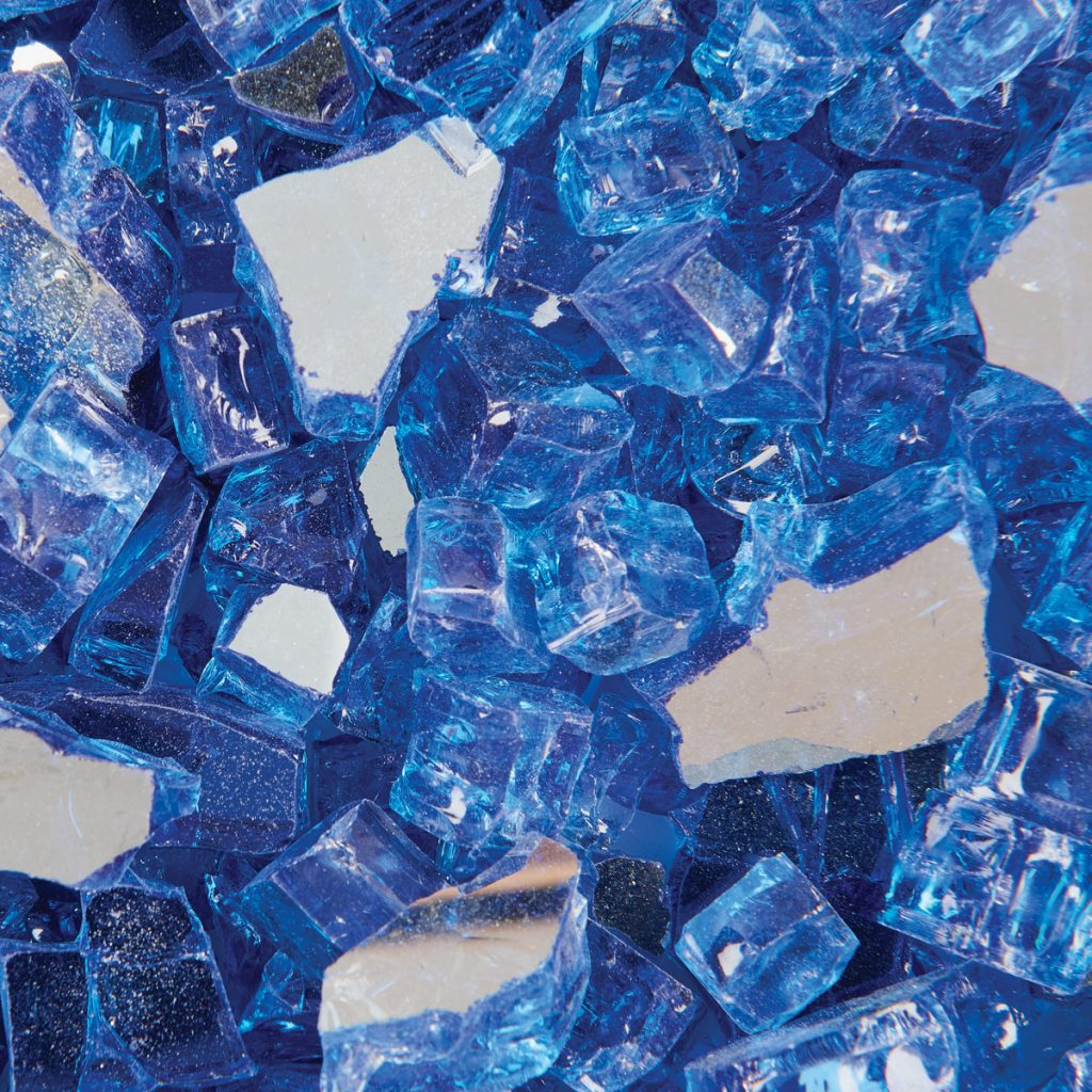 Royal Blue Metallic Fire Glass